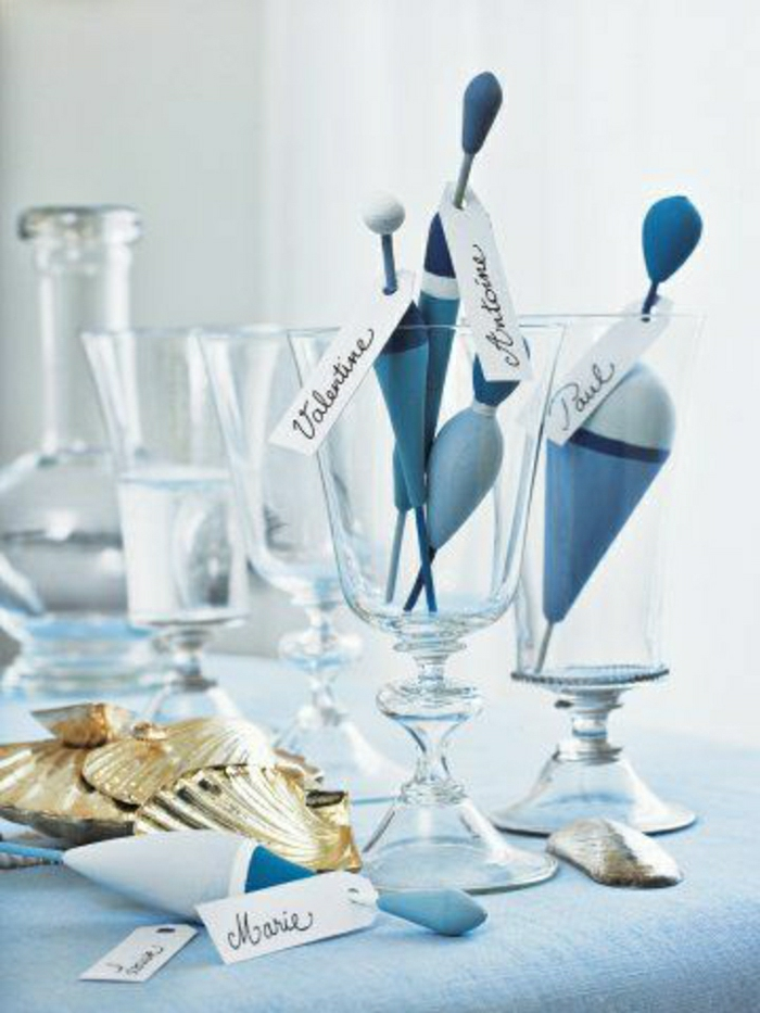 decoration marine pour la table mariage decoration marine