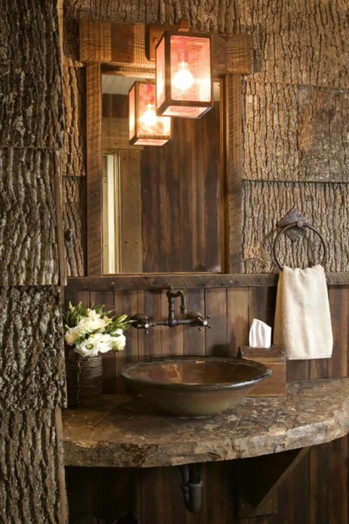 Le thme du jour est la salle de bain rtro