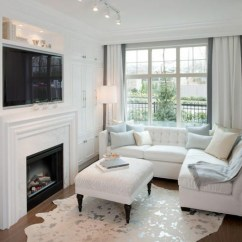 How To Decorate A Long Living Room With Fireplace In The Middle Decorating Very Small Comment Adopter La Peau De Vache Dans L'intérieur?