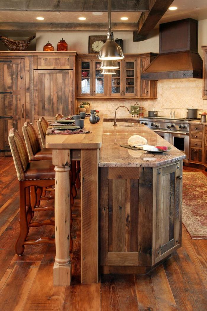 la cuisine en bois massif en beaucoup