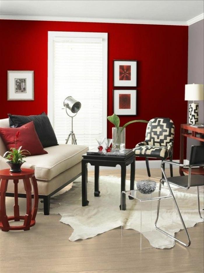 chaise in living room blue color aménager la maison dans gamme de couleur carmin!