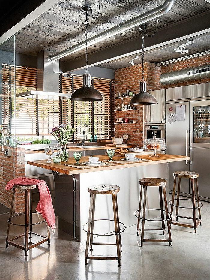 table de cuisine rectangulaire