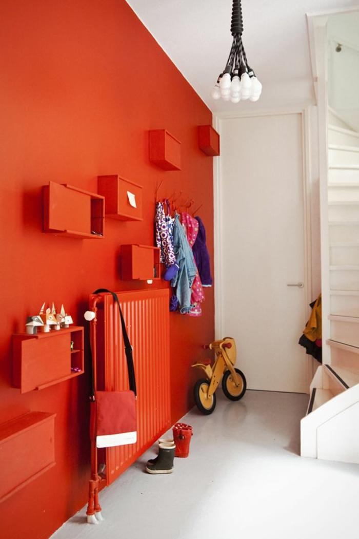 Amnager la maison dans la gamme de la couleur carmin