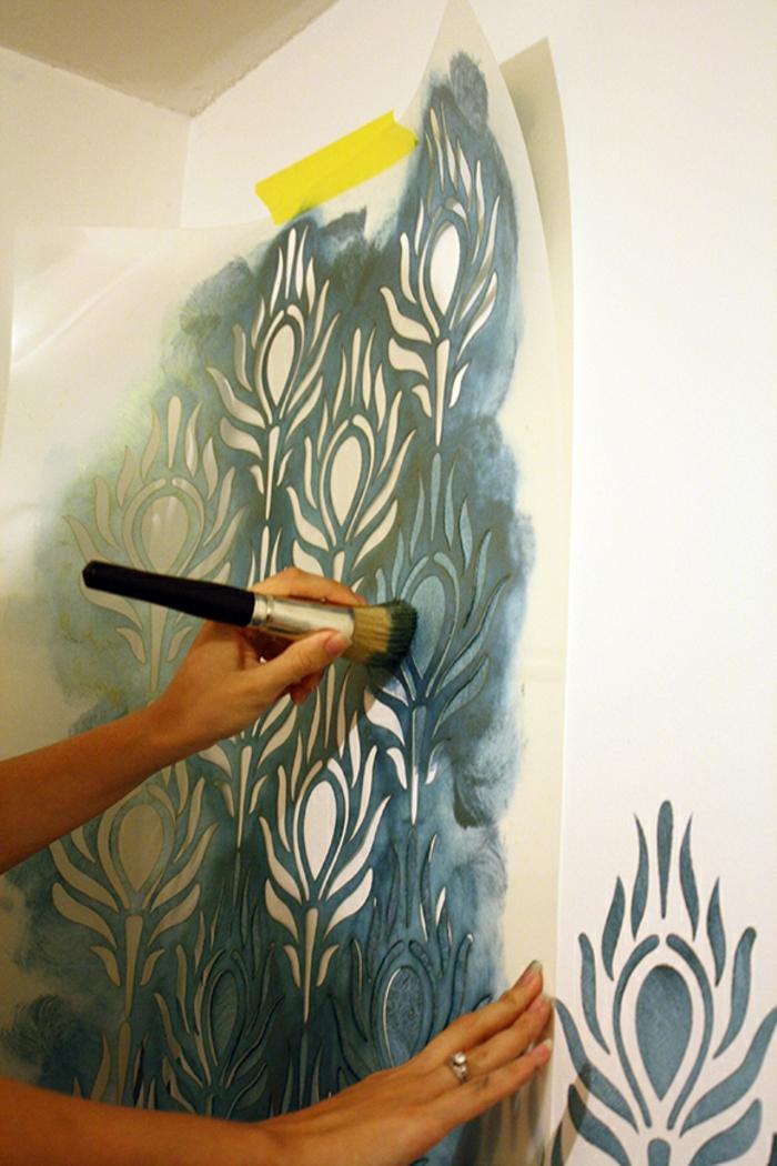 Le pochoir mural  35 ides cratives pour lintrieur  Archzinefr