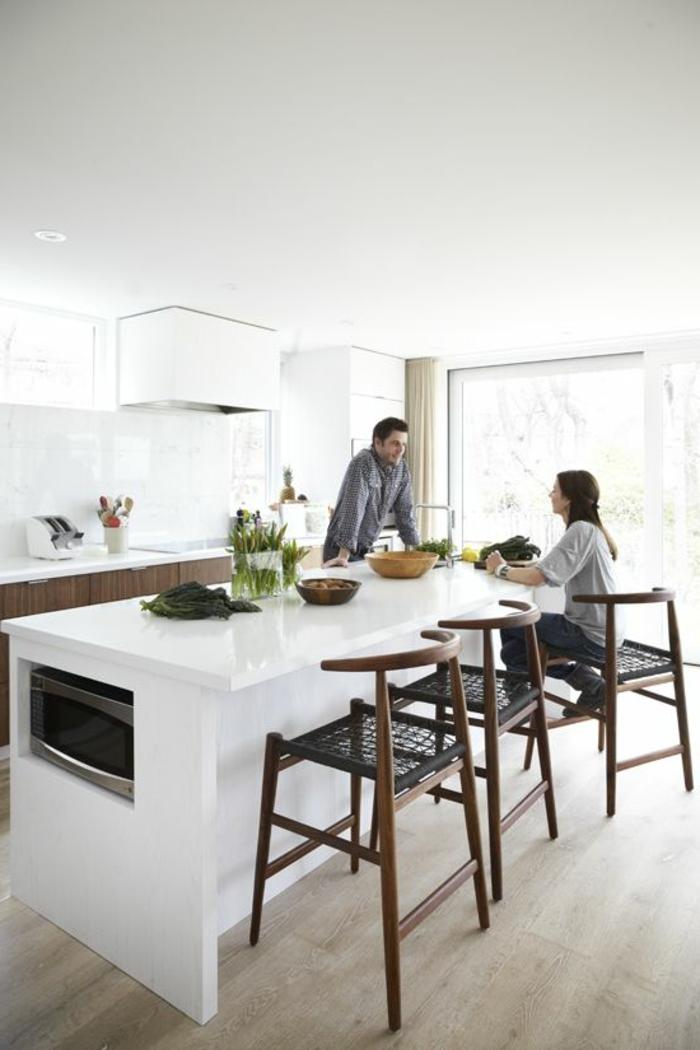 meuble cuisine blanc pas cher