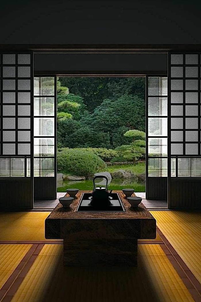 japonaise et l interieur japonais