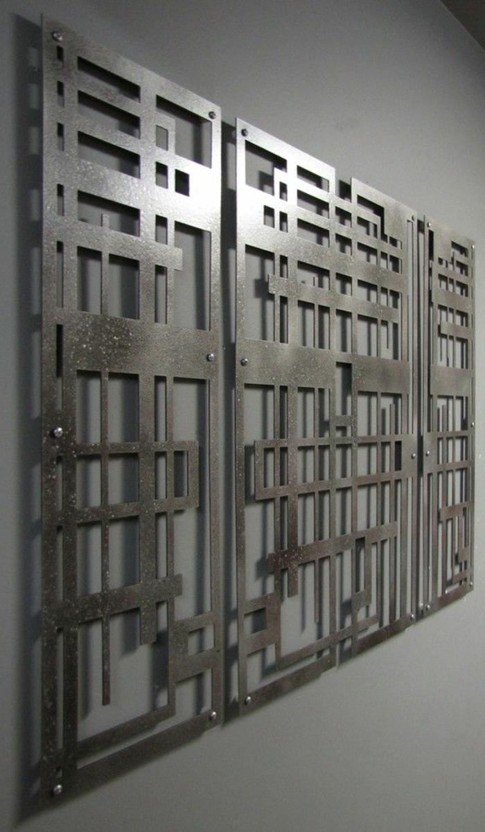 la decoration murale en metal touches