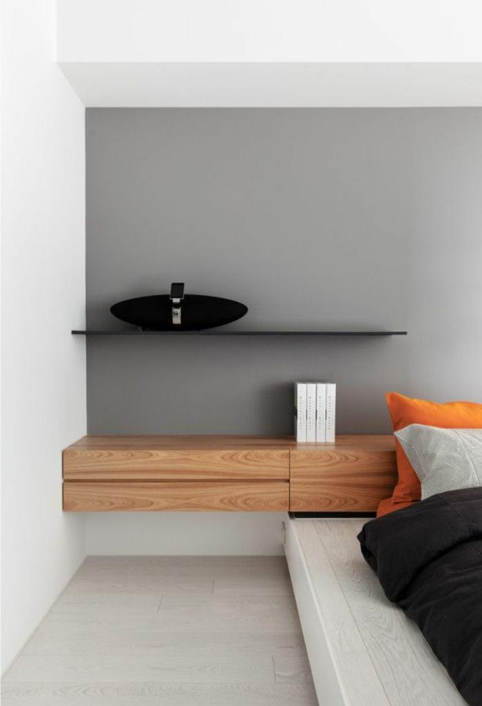 Installer une table de nuit suspendue prs de son lit  les avantages  Archzinefr