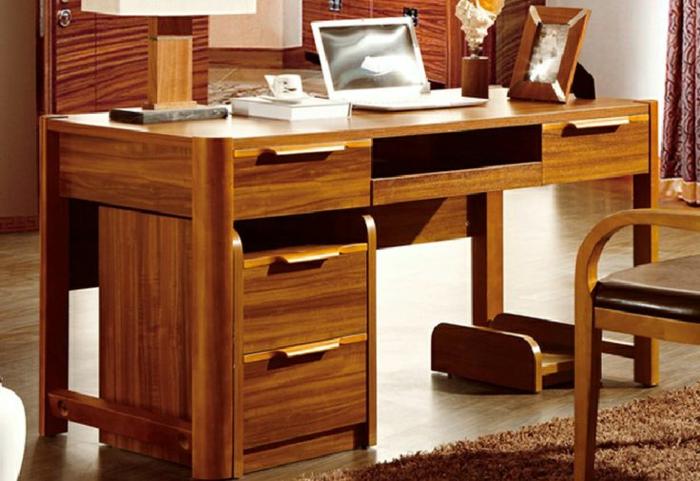 Bureau Bois Massif Moderne Moble Top