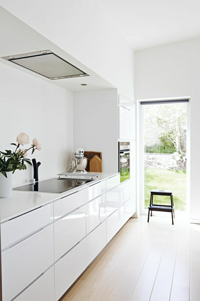 La cuisine blanche laque en 35 photos qui vont vous inspirer  Archzinefr
