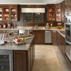 Cottage Style Kitchen Cabinets White Glass Doors La Cuisine Campagne - Décors Chaleureux Vintage ...