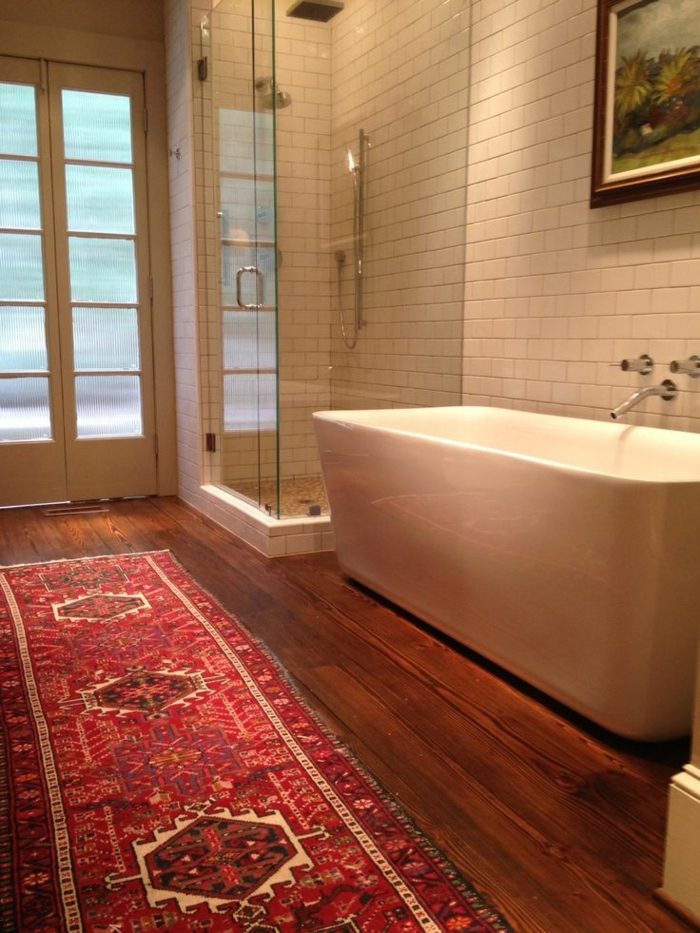 On vous prsente le tapis de salle de bain en 45 images