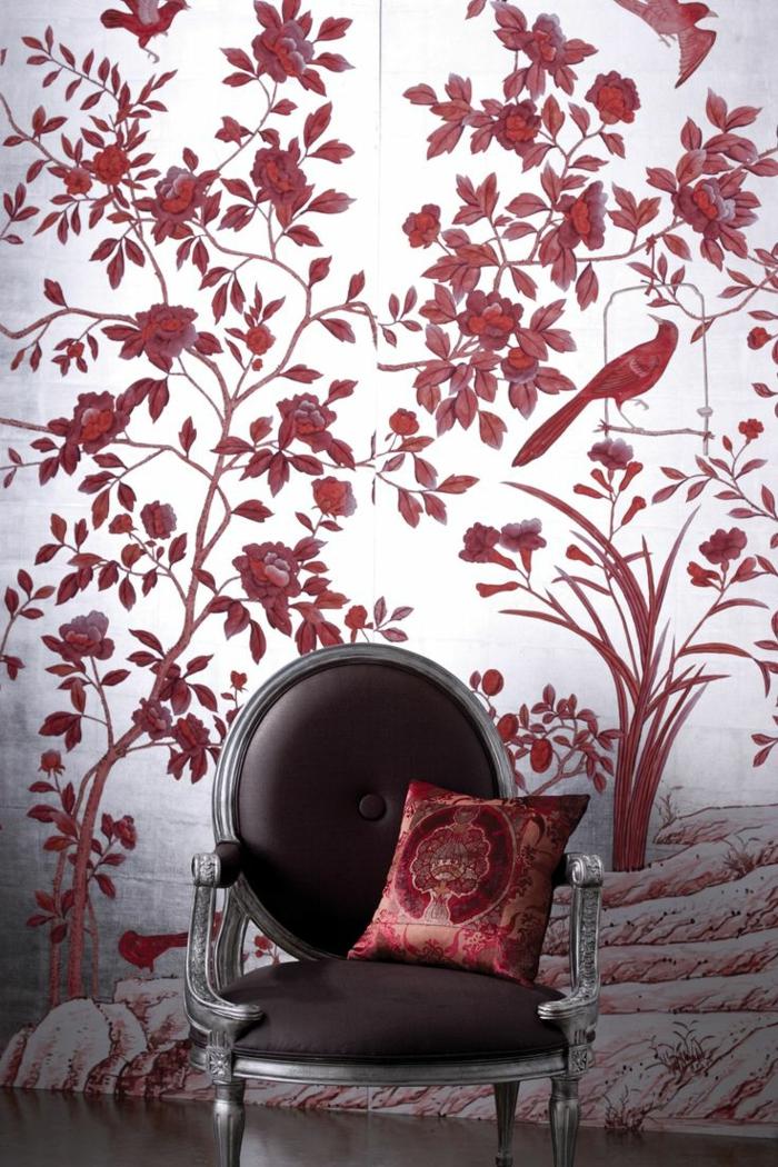 La couleur bordeaux  un accent dans lintrieur contemporain