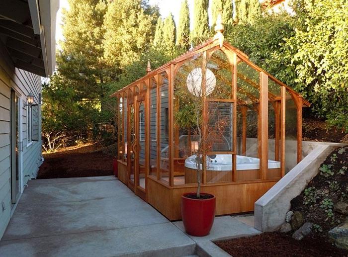 Stunning Veranda En Kit Jardin Contemporary - House Design ...