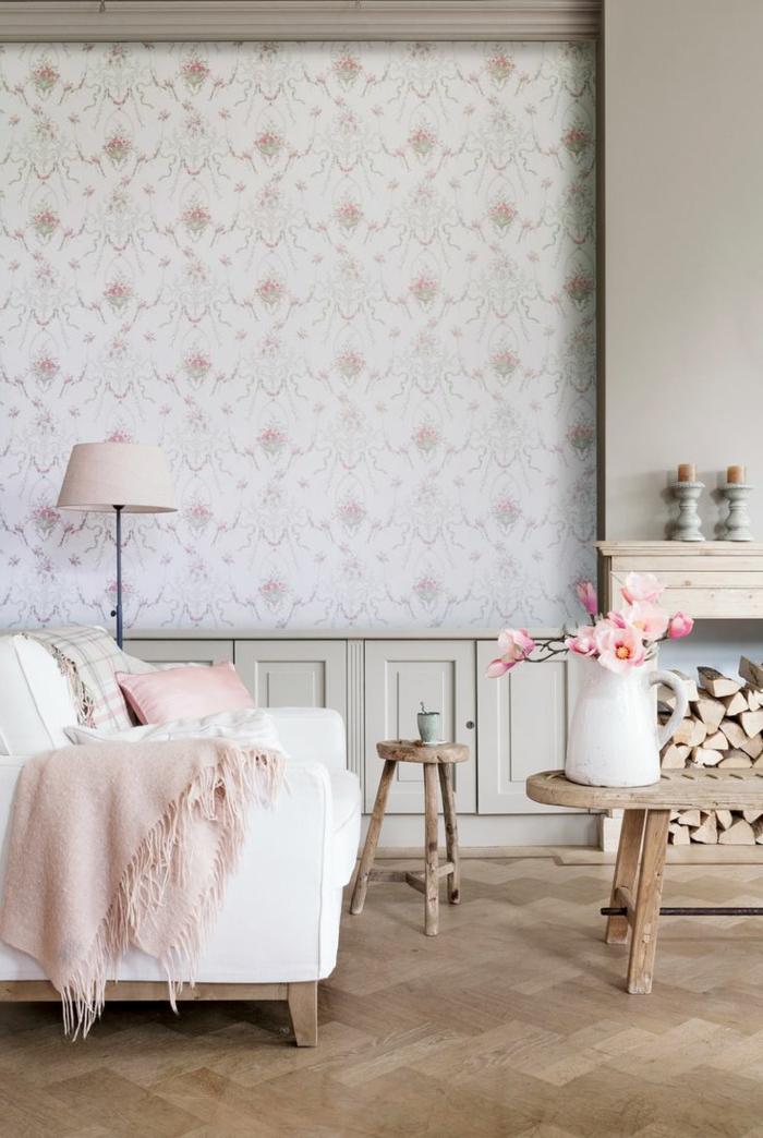 papier peint salon moderne