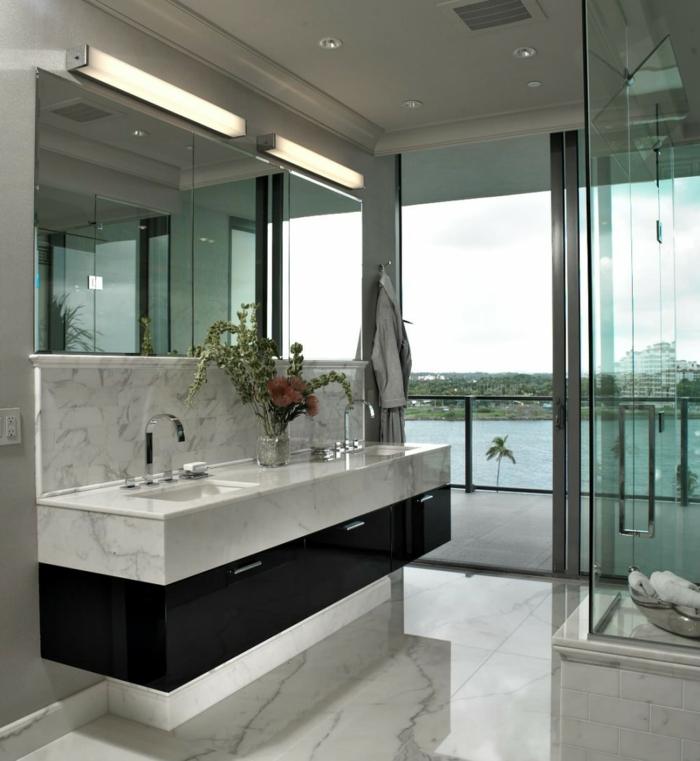 Meuble double vasque  50 ides amnagement salle de bain