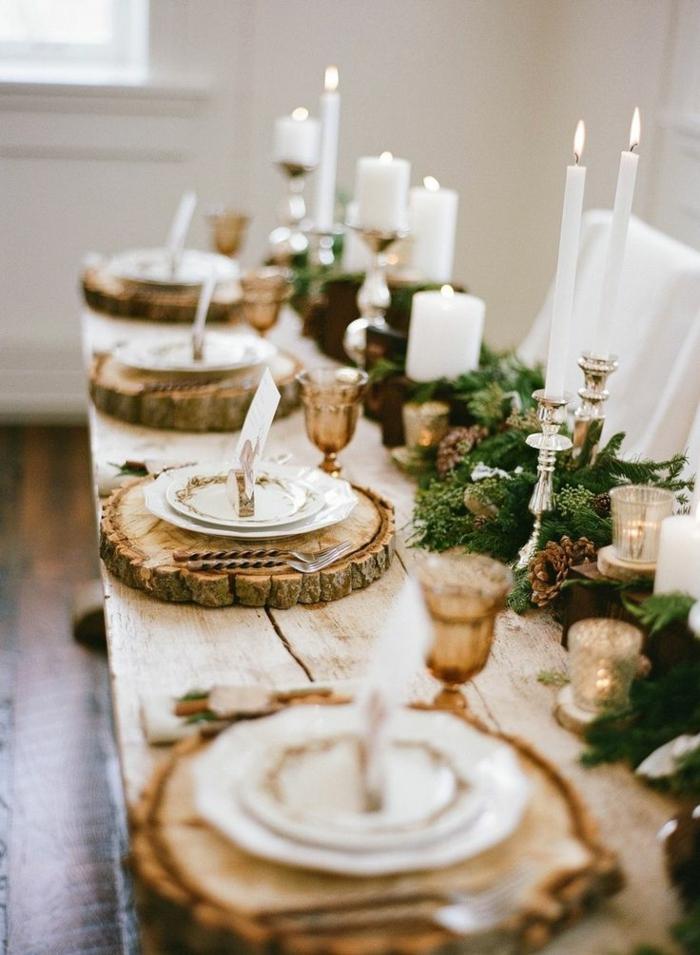 affordable comment incorporer la branche de sapin dans la dcoration de nol ides en photos with decoration de table noel