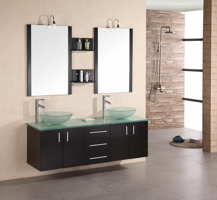 Meuble double vasque  50 ides amnagement salle de bain  Archzinefr