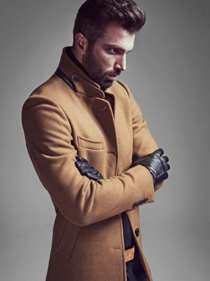 Les tendances chez le manteau long homme en 48 photos
