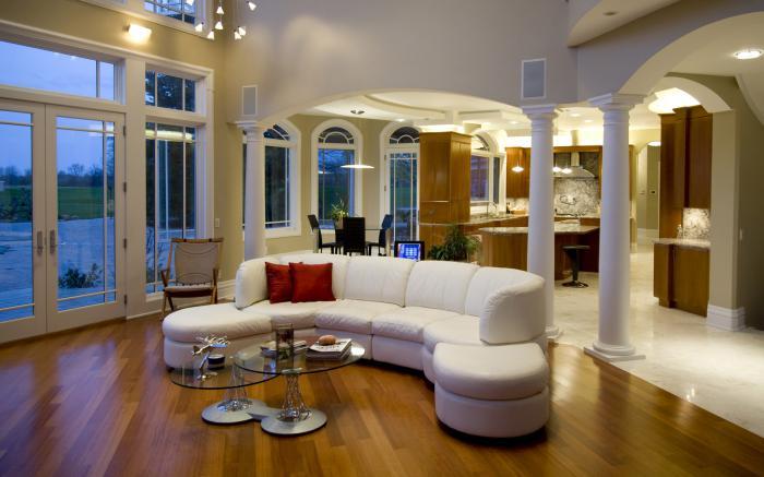 Intrieurs avec un canap arrondi  un meuble pratique et dco  Archzinefr