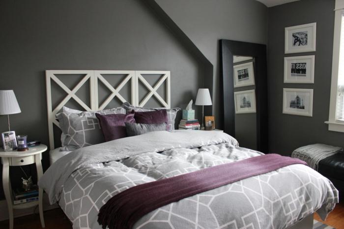 Deco chambre adulte gris et blanc - Deco noir et blanc chambre ...