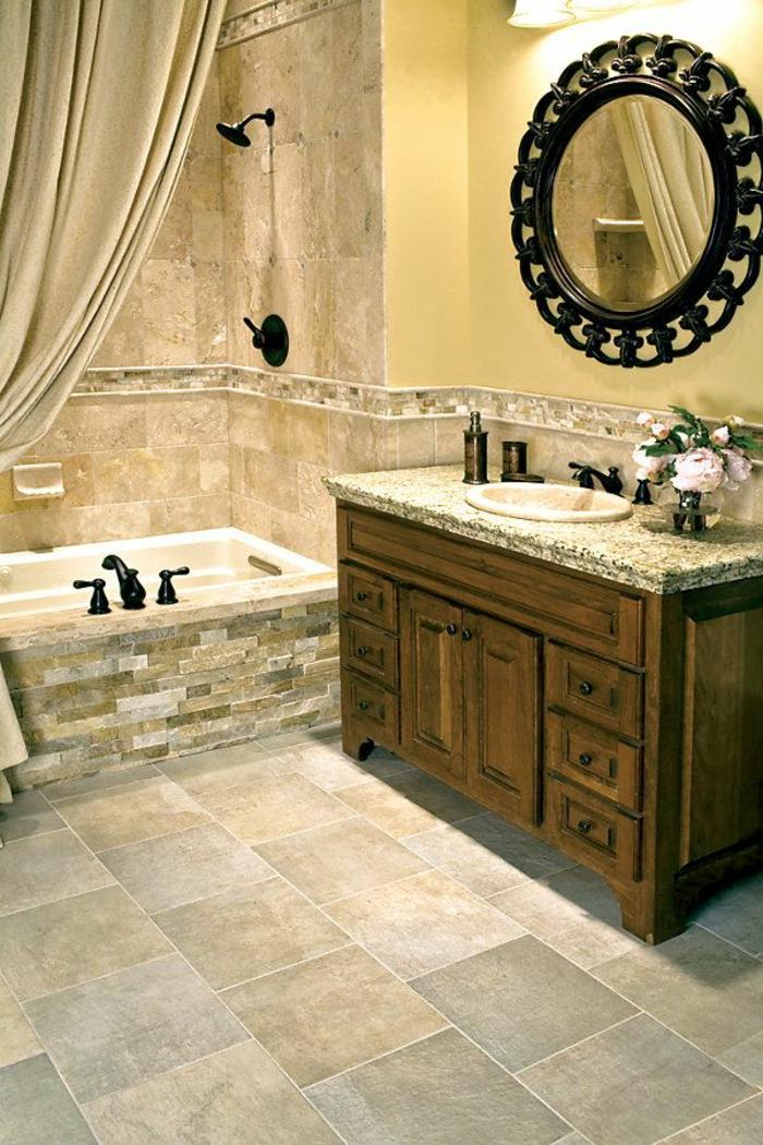 Beaucoup dides en photos pour une salle de bain beige
