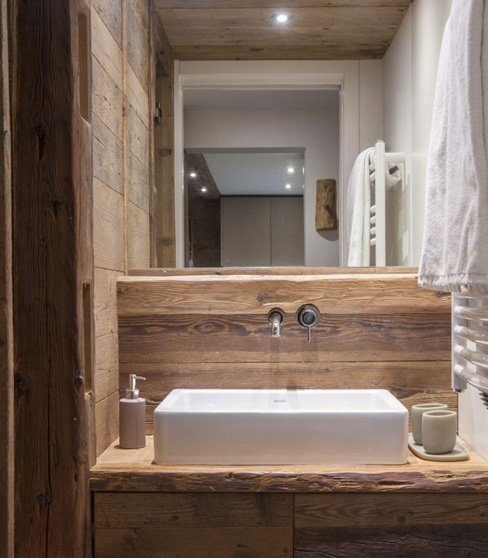Les beaux exemples de salle de bain rustique  40 photos inspirantes