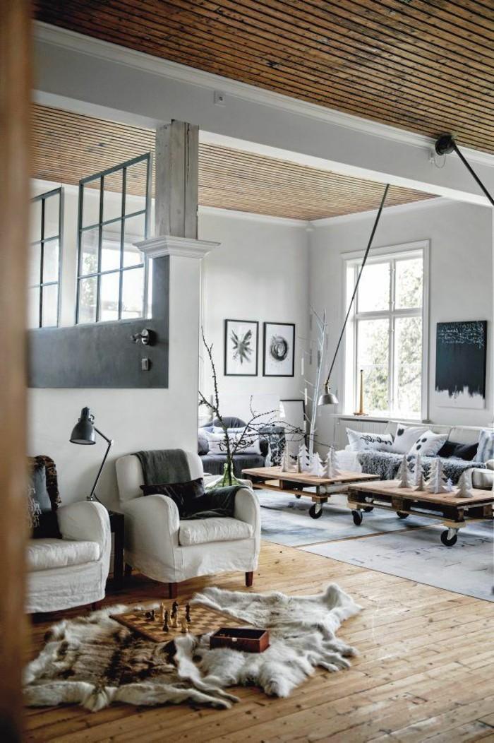 Mille Et Une Ides Pour Le Salon Style Industriel En 44