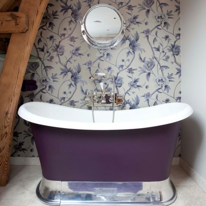 Papier peint pour salle de bain  45 ides magnifiques