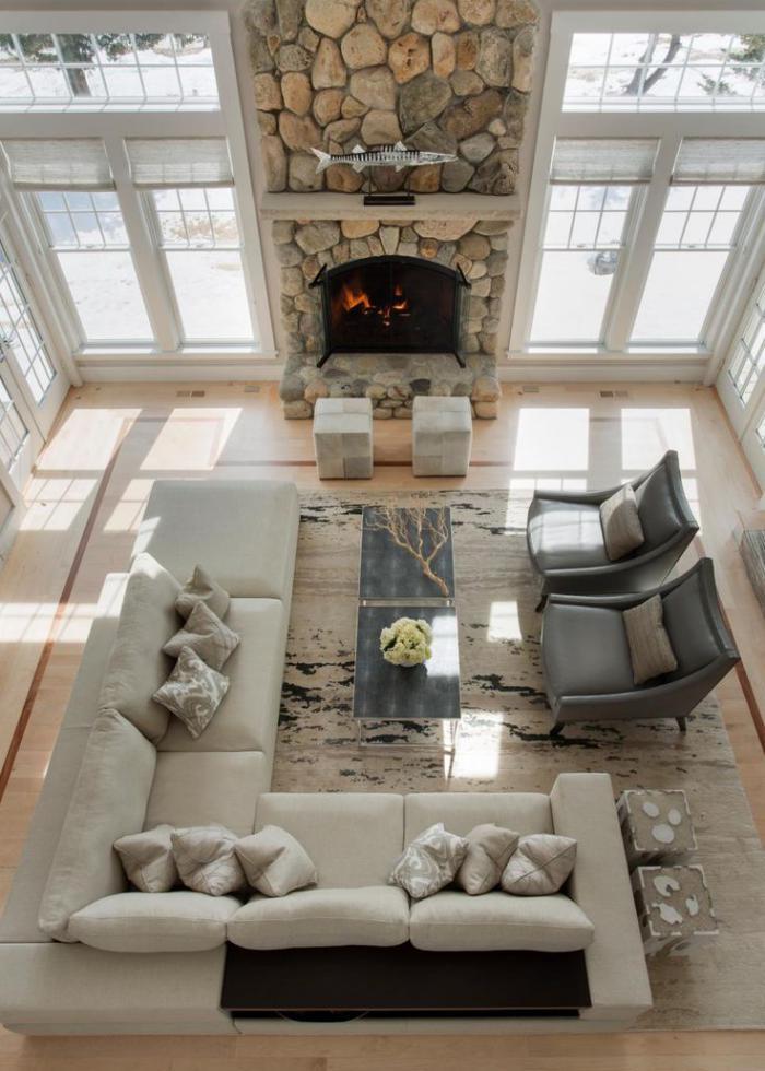 Le canap beige  meuble classique pour le salon  Archzinefr