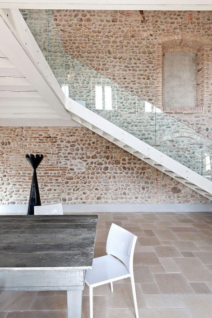 Chambre Avec Mur En Pierre Stunning Idees D Chambre