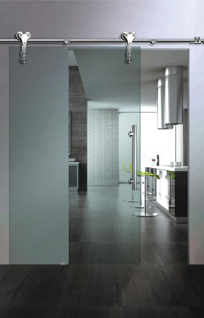 La porte coulissante en verre  gain despace et esthtique moderne  Archzinefr
