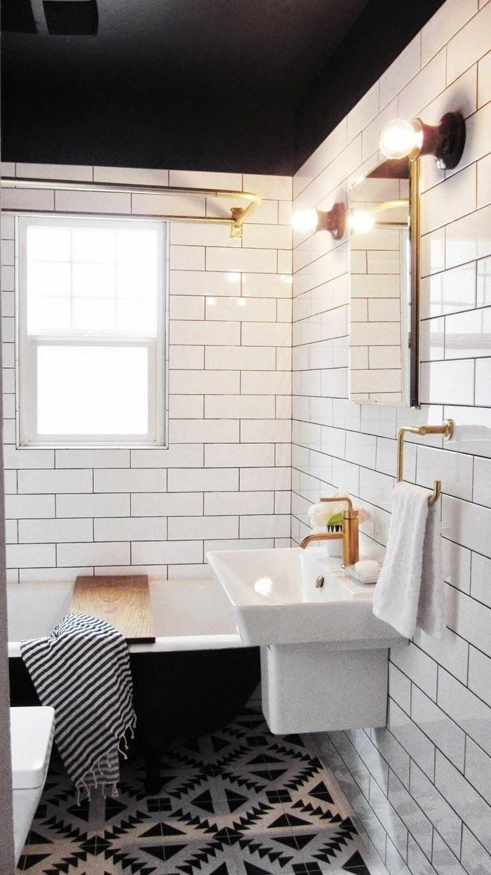 Photo De Salle De Bain Noir Et Blanc maison vasque salle de bain avec petite salle bain