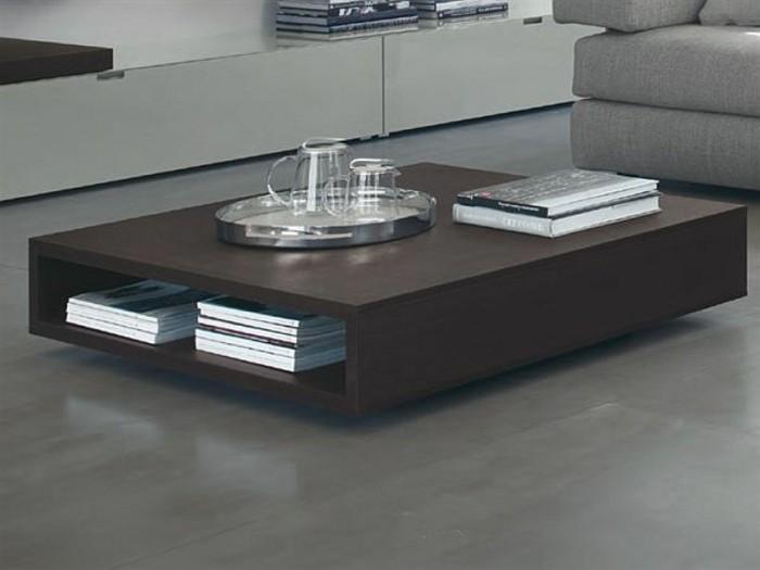 design de la table basse avec rangement