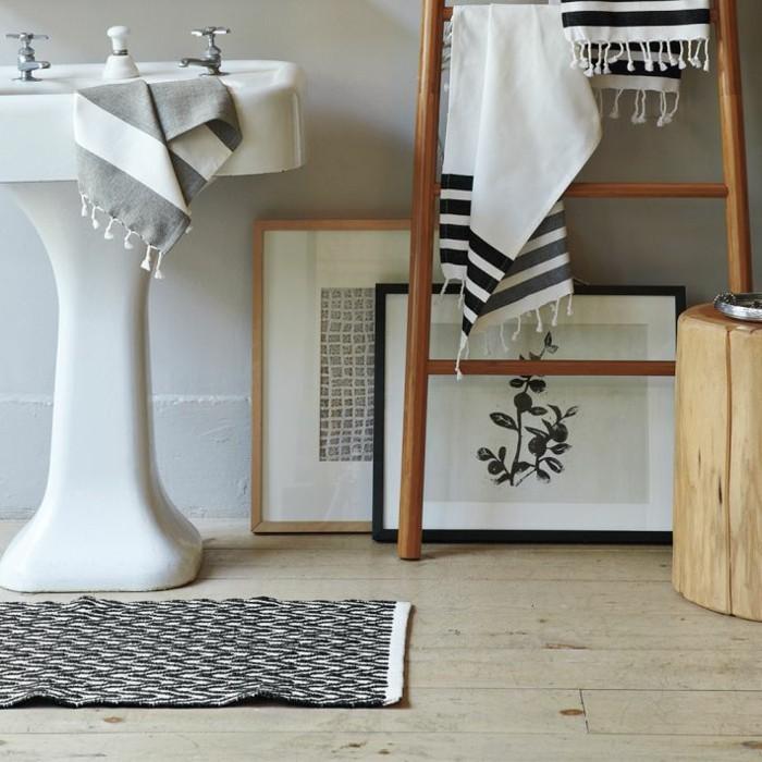 tapis de salle de bain original idee design