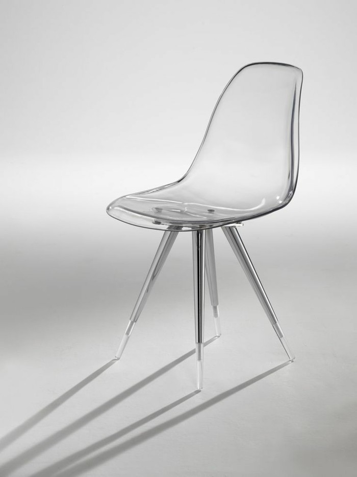 chaise design transparente