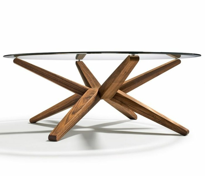 table basse design verre et bois a phaichi com