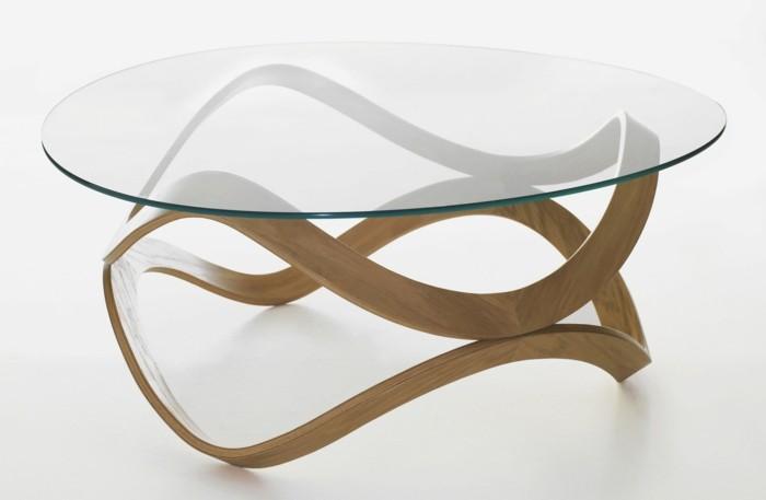 Table Basse Ronde Design Verre Et Bois Table