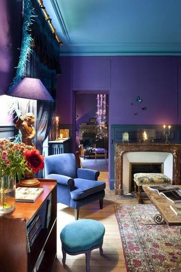 wall color combination for living room sofas furniture 80 idées d'intérieur pour associer la couleur prune!