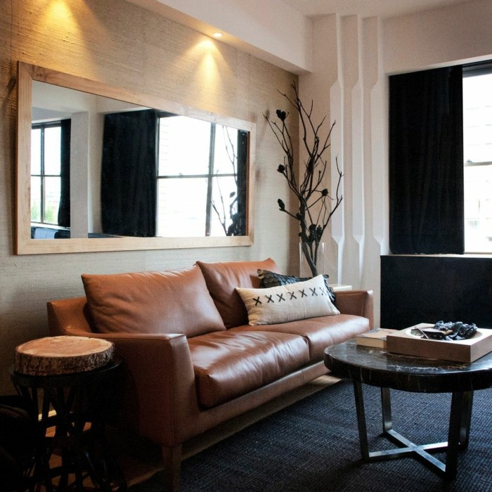 Brown Leather Sectionals
