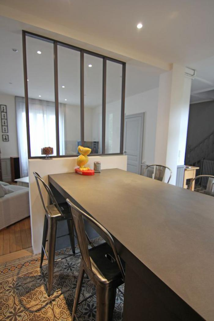 ilot cuisine table