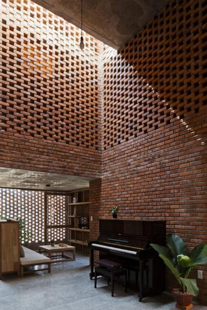 Les briques de parement et les briques apparentes  intrieurs  esprit loft