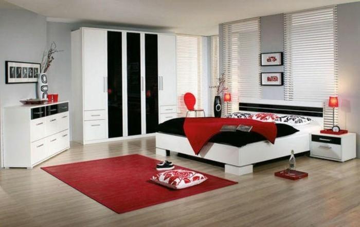 Chambre rouge et blanc  ides intressantes pour votre maison  Archzinefr