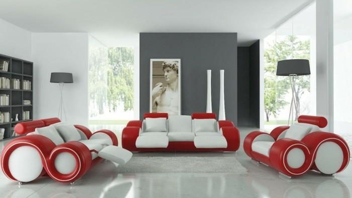 Idee Deco Chambre Rouge Et Blanc
