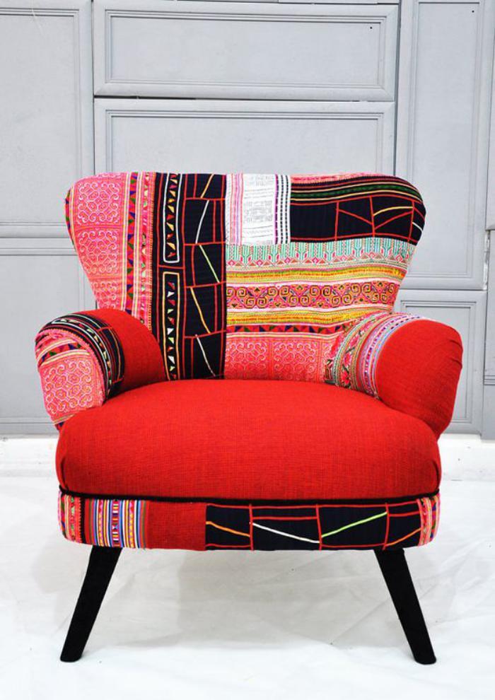Le fauteuil patchwork  une pice boho chic pour faire votre intrieur vibrer  Archzinefr