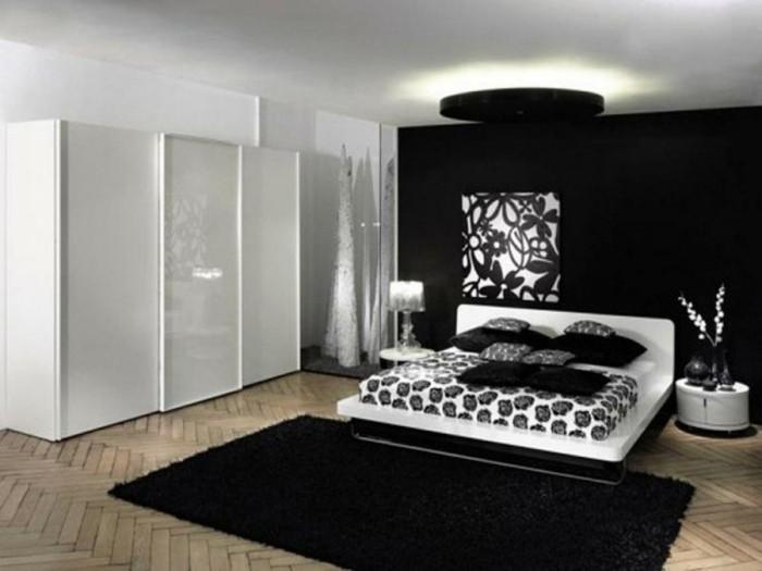 Chambre noire et blanche  signification des couleurs et combinaisons en 80 photos splendides