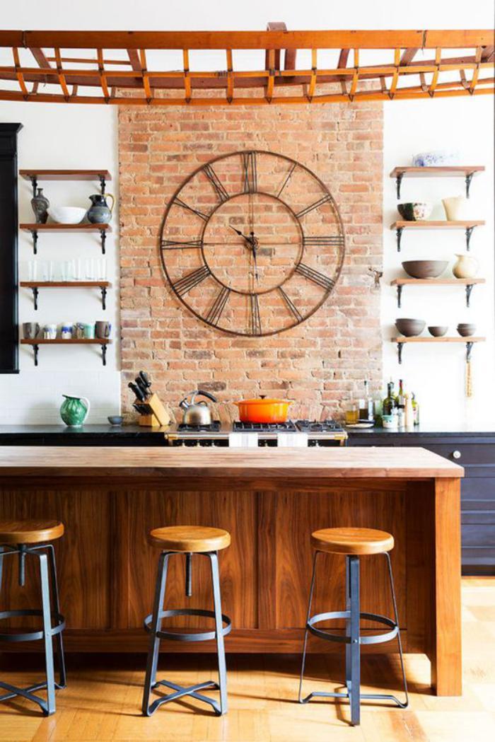 horloge murale cuisine design