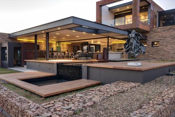 Elegant Elegant Maison Toit Plat Bois Stunning Extension Maison Toit Plat Ide Maison  With Plan Maison Ossature Bois Toit Plat