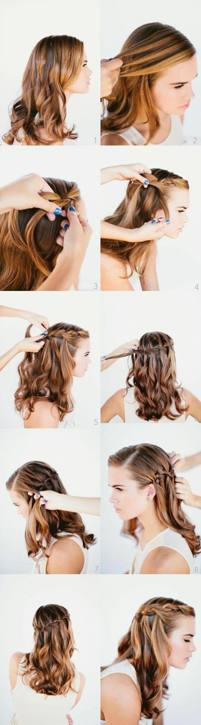 Tuto coiffure de cheveux femme