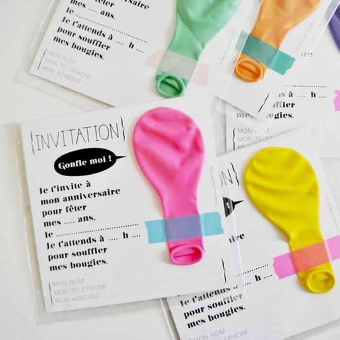 carte d invitation anniversaire les